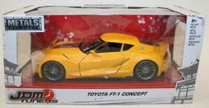 Jada-1-24-Scale-Metal-Model-Car-98781-JDM-Tuners-Toyota-FT-1-Concept-Yellow