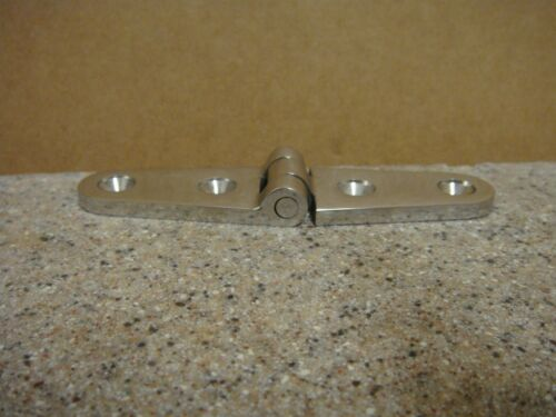 Stainless Steel Strap Hinge Two Holes Per Side 316SS SSHN66025