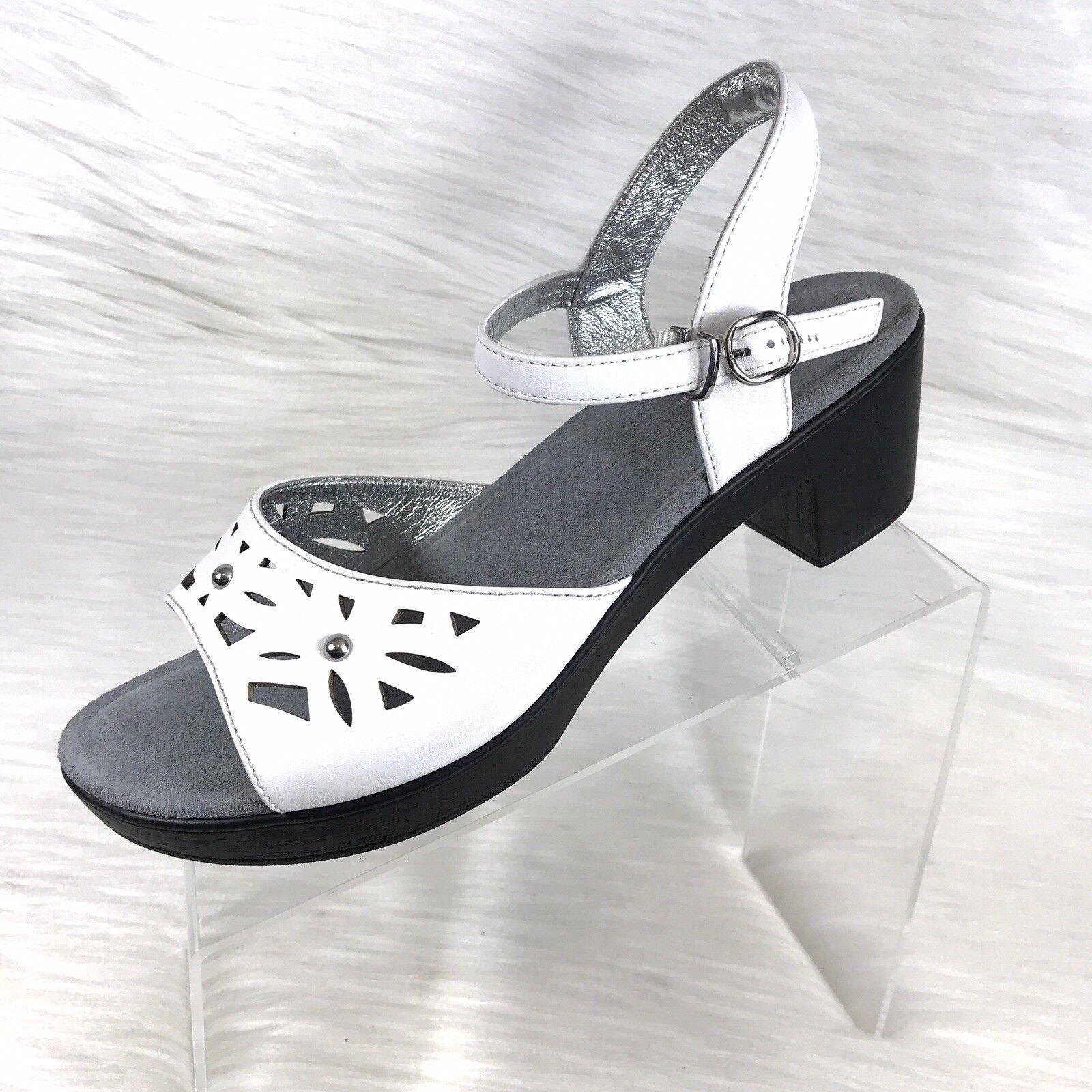 Alegria Reese-Ree 647 Women's Sandals White Size Eu 42 US 12