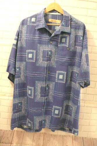 Tommy Bahama Men's 100% Silk Shirt Sz XL