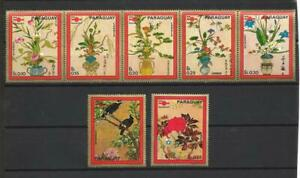 Flora-Flowers-Paraguay-1971-53-1117-IN-1123-Obliterated-Used