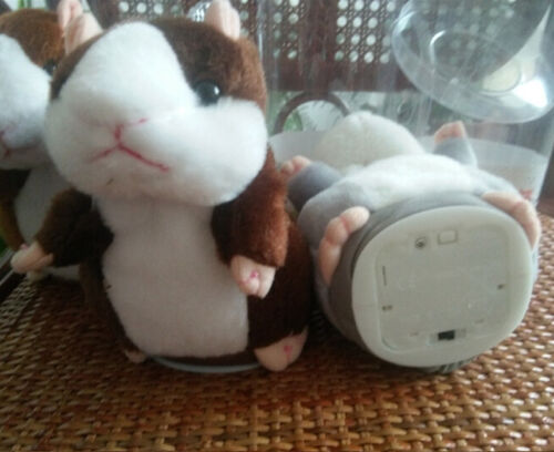 Cheeky Talking Hamster Pet Plush Toy Cute Speak Sound Record for Children Baby