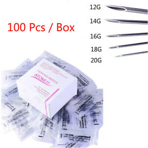 Aghi-piercing-sterilizzati-100piece-per-il-naso-dell-039-ombelico-del-corpo