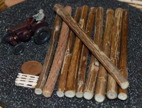 106 mm lang Ø 4,00-7,00 mm Ladegut Holz Stämme Naturholz ca 20 Stück