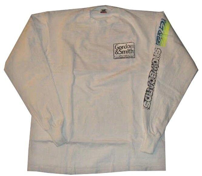 G & S Gordon & Smith Snowboard Vintage Lunga Primi 90s Snowboard T-Shirt Manica Lunga Vintage bc5a39