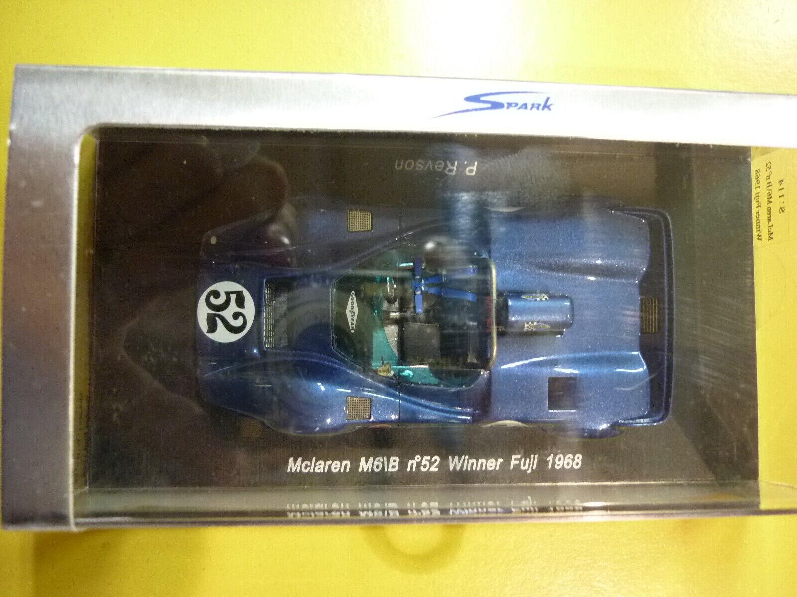 Spark Model S1114 Mc Laren M6 B  52 Revson Winner Fuji 1968