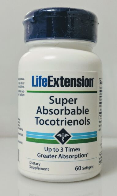 Super Absorbable Tocotrienols by Life Extension, 60 softgels 1 pack