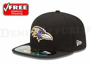 New Era 59FIFTY BALTIMORE RAVENS - Official NFL On Field Cap Fitted Black Hat