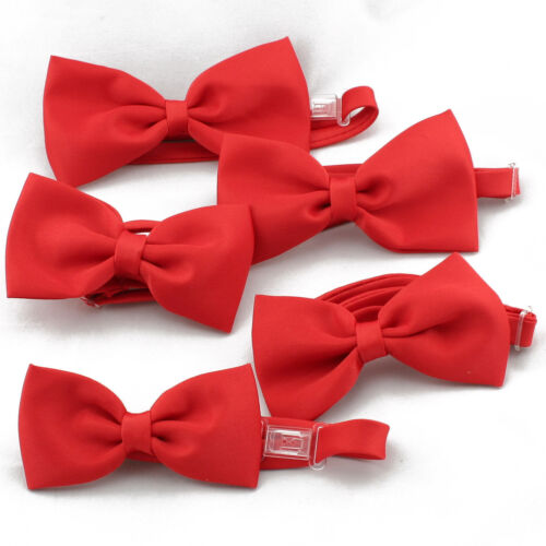 5-7 5-7years New Baby Boy Child Wedding Formal Party Holiday RED Bow Tie Size
