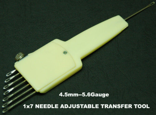1X7 Needle Adjustable Transfer Tool 4.5mm 9mm Brother Singer Silver Reed KA084