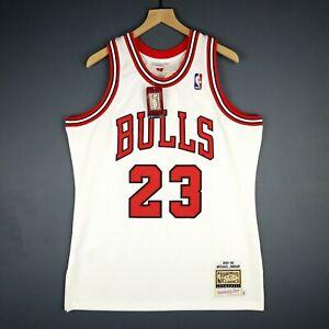 a3a004ca18a Authentic Michael Jordan Mitchell Ness 95 96 Bulls Jersey Size 44 L ...