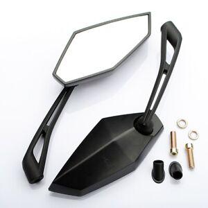 Coppia-10mm-Specchietti-Retrovisori-Specchio-Omologati-Per-Kawasaki-Z1000-Nero