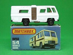 Matchbox-Lesney-Superfast-No-54e-Mobile-Home-tipo-039-L-039-Caja-raro-Gris-Marron-Base