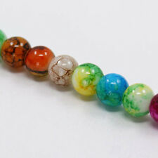 Glass Beads 8mm Round Beads Swirled Beads Wholesale Beads Assorted 20 pieces