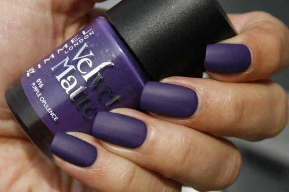 Rimmel Salon Pro Velvet Matte Nail Polish 12ml 016 Purple Opulence