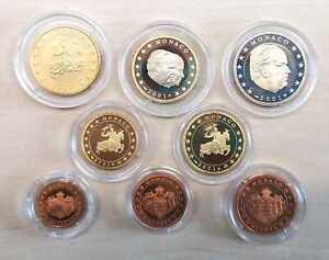 Monaco Pièce de Monnaie 2001 Pp (Choisissez Entre : 1 Cent - Seulement 3.500