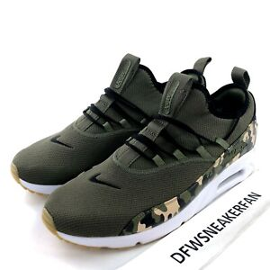 Details about Nike Air Max 90 EZ Camo Mens AO1745 201 Camo Olive Black Running Sz 8.5