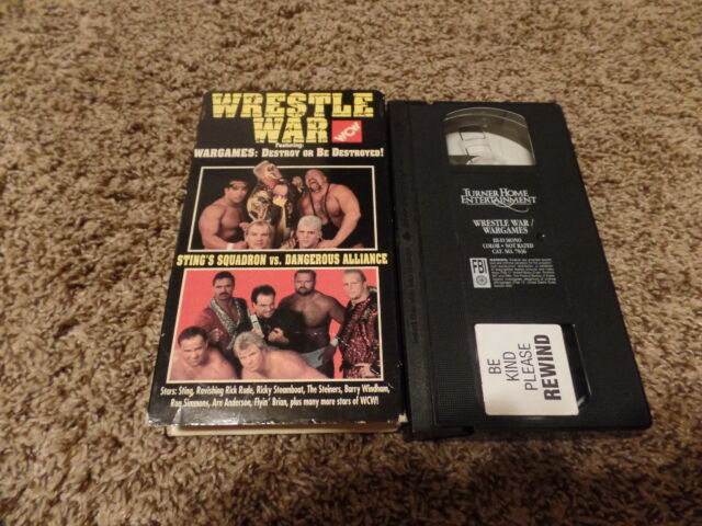 WRESTLE WAR 1992 WAR GAMES 92 wcw vhs STING wrestling