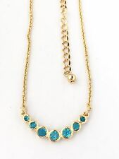 NEW Kate Spade New Dainty Sparklers Pendant Necklace Aquamarine