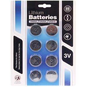 8-x-CR2032-CR2025-CR2016-3v-Lithium-Watch-Button-Cell-Battery-CMOS-Motherboard
