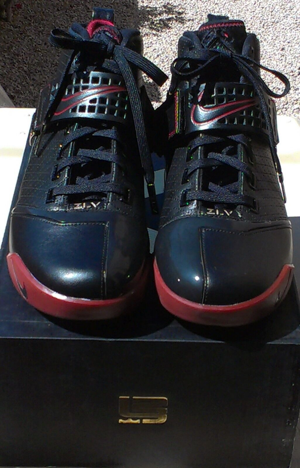 Nike Zoom LeBron V 5 (317253-001) - negro / rojo SZ / oro - Hombre SZ rojo nuevo en caja * 1543d5