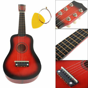21 inch 6 string acoustic guitar beginners practice musical instrument kids ebay. Black Bedroom Furniture Sets. Home Design Ideas