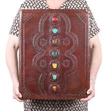 Huge 7 Stone Leather Journal Handmade Vintage Blank Notebook Sketchbook Book