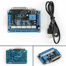1Set MACH3 Interface Board CNC 5 Axis Optocoupler Adapter Stepper Motor Driver
