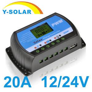 LCD-Solar-Panel-Battery-Regulator-Charge-Controller-Dual-USB-20A-12V-24V-New