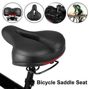 Road MTB Mountain Bike Saddle Wide Bicycle Seat Soft Pad Cushion with rain Cover