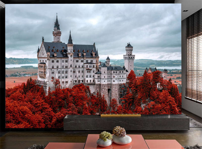 Neuschwanstein Castle Full Wall Mural Photo Wallpaper Print Kids Home 3D Decal