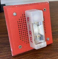 Wheelock Et 1070 Wm 24 Speaker Strobe Fire Alarm Red
