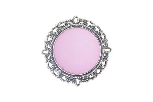 adornada de acero inoxidable.20mm Polaris rosa Soporte pañuelo broche Magnet