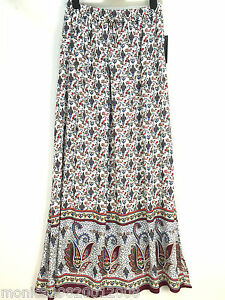 ZARA-PAISLEY-FLORAL-PRINT-MAXI-LONG-SKIRT-WITH-SLITS-SIZE-SMALL-MEDIUM