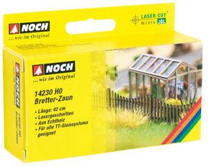 14230-Noch-HO-Bretterzaun-42-cm-Laser-Cut-minis-Modelleisenbahn-Hobby-Zubeh