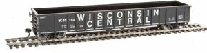 Walthers-910-6171-HO-53-039-Smooth-Side-Gondola-R2R-Wisconsin-Central-55180