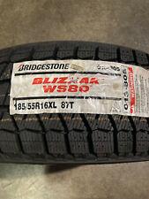 New Listing4 New 185 55 16 Bridgestone Blizzak Ws80 Snow Tires