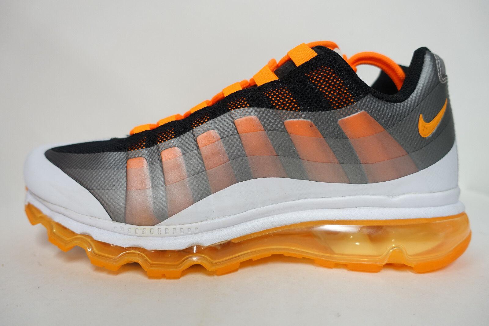 HOMME Nike Air Max 95 + Bb Chaussures Pointure 8 Blanc Noir Orange Argent 511307