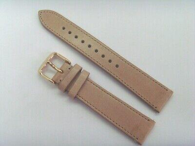 FOSSIL Original Ersatz Lederarmband ME1082 Uhrband weiß mit Unterlage 18mm strap