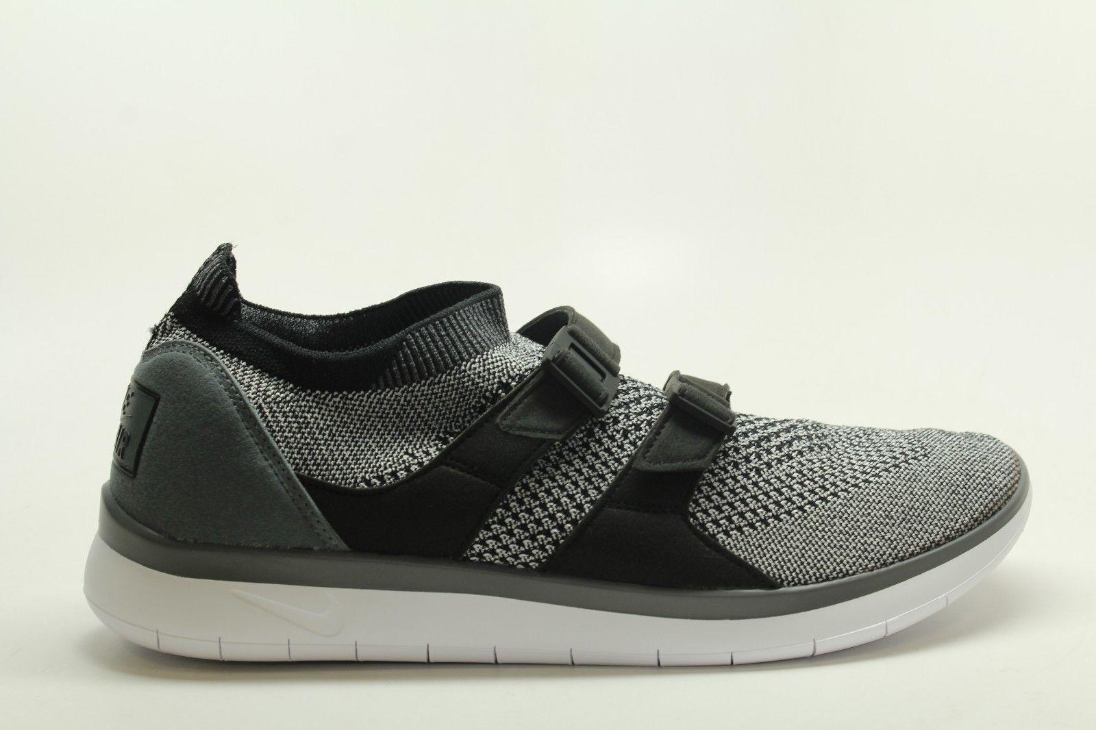 New Nike Air Sockracer Flyknit Uomo Running Training Shoes Grey/Nero 898022 100