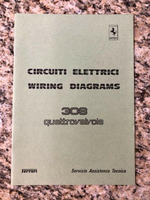 Ferrari 308 Quattrovalvole Wiring Diagrams Service Manual