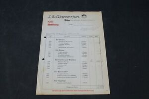 Age-Print-Glasses-Strumpfwerke-Invoice-From-1940