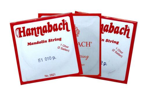 leicht 012 010 medium stark 011 Hannabach e1 Saite für Mandoline