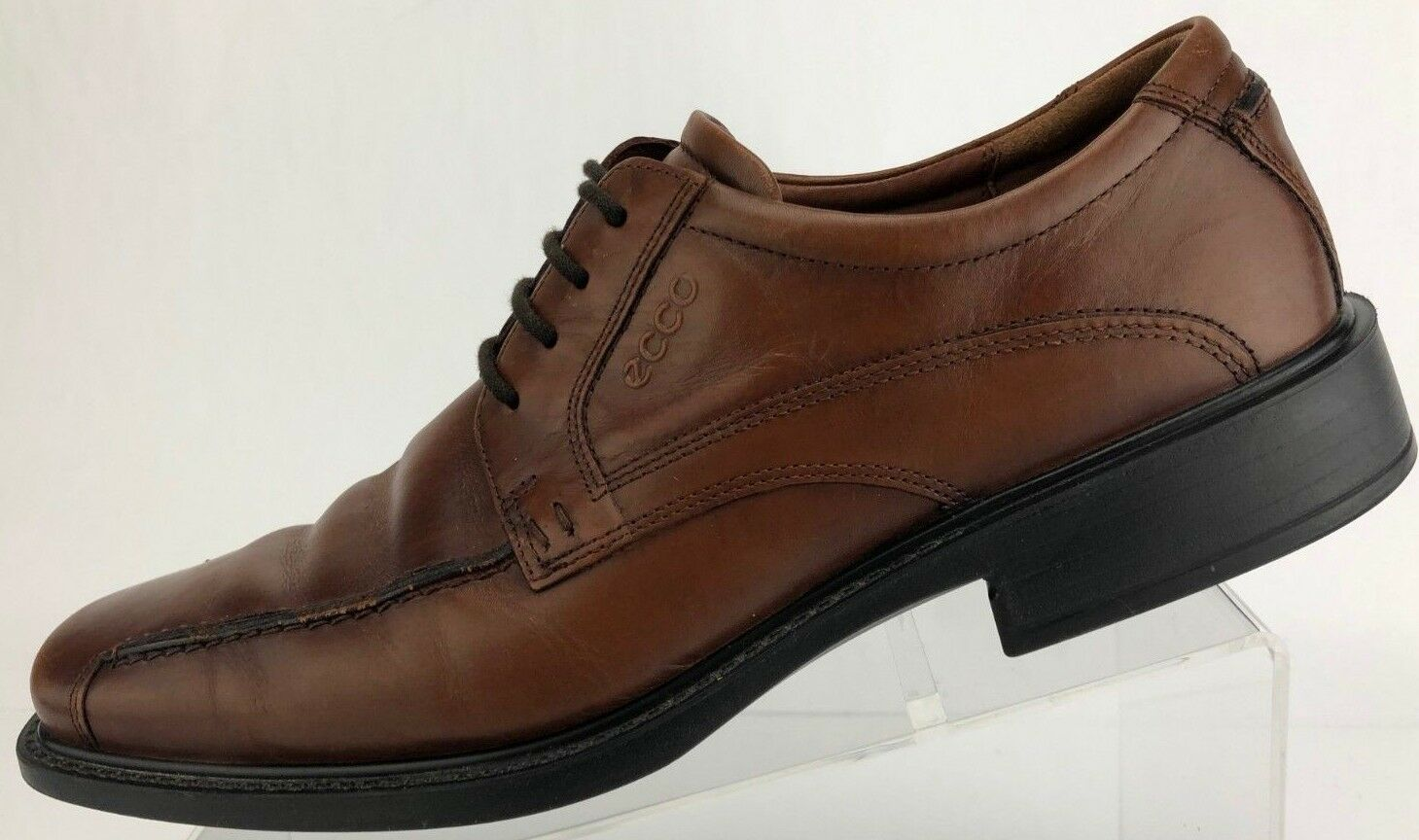 Ecco Bicycle Dress schuhe Lace Up braun Bicycle Ecco Toe Leather Oxford Derby Mens 43, 9,9.5 6d7a46