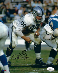 RAIDERS-Jim-Otto-signed-8x10-photo-w-HOF-1980-JSA-COA-AUTO-Autographed-Oakland