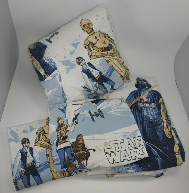 Pottery Barn Kids Star Wars 4 Piece Full Bed Sheet Set 1
