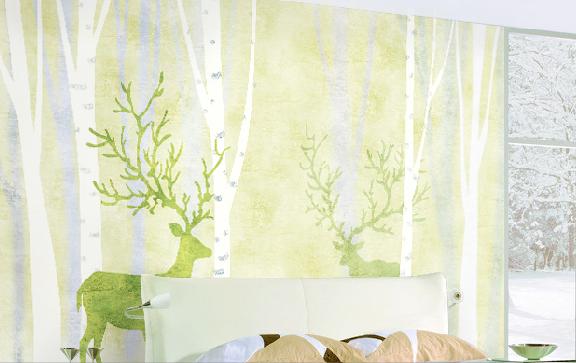 3D Trees  Moose Deer 7 Wall Paper Murals Wall Print Wall Wallpaper Mural AU Kyra