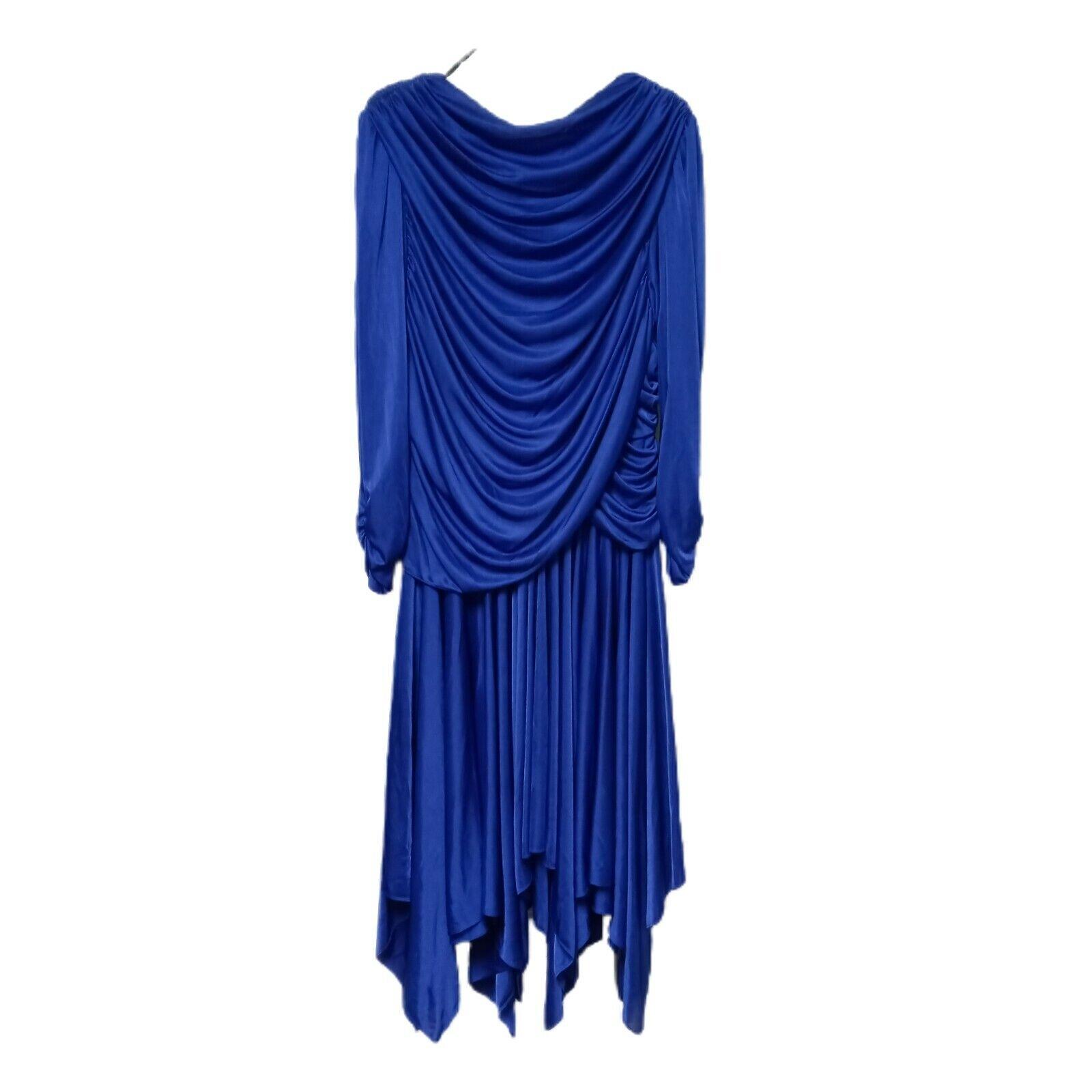 Vtg David Rose Royal Blue Evening Or Mother of the Bride Dress Size 16 EUC