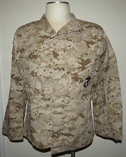USMC MCCUU DESERT MARPAT CAMOUFLAGE CAMO BLOUSE SHIRT MEDIUM SHORT NEW