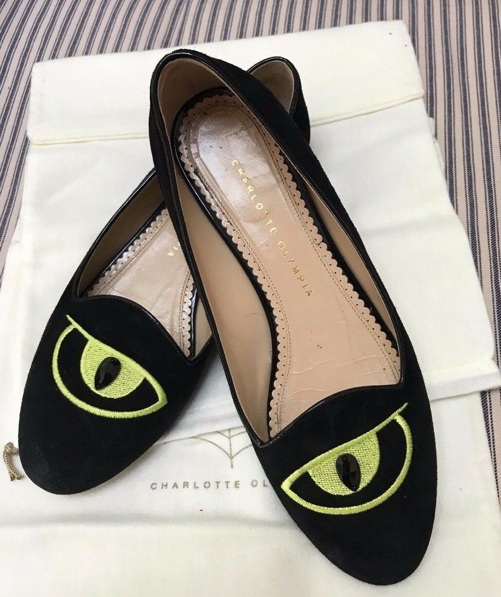Authentic-Charlotte-Olympia-Eye on You -Flats-39.5 MSRP  495-00
